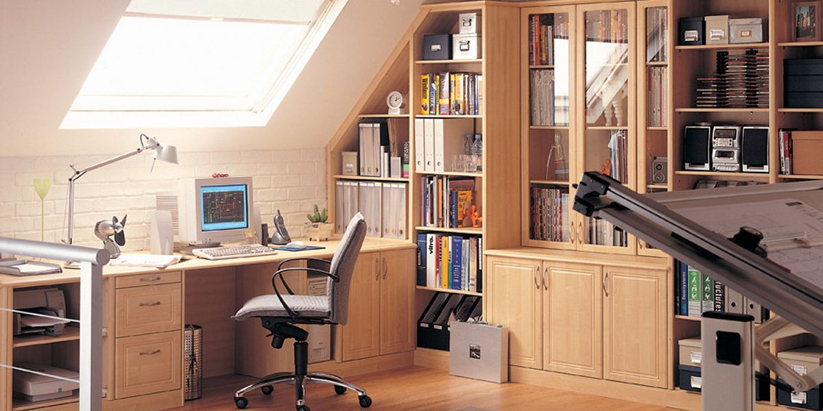 Мансарда дизайн кабинета