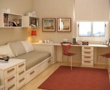 Кровать, комод, стол письменный с тумбой. Исполнение - ЛДСП Egger