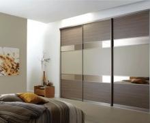 Профиль Integro, вставка панель AGT+ЛДСП Egger+зеркало бронза