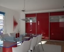 Двери раздвижные. Профиль Integro, вставка панель AGT, стекло