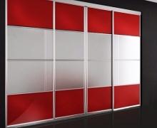 Двери раздвижные. Профиль Integro, вставка панель AGT, стекло сатин серебро