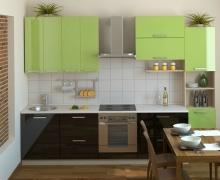 Линейная кухня. разноуровневый верх. Фасады AlvicLux
